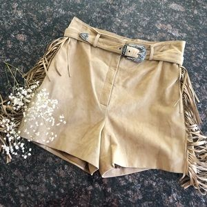 Make Izmir Suede Leather Shorts. SZ 40.